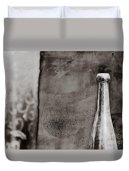 Duvet Cover featuring the photograph Vintage Beer Bottle by Andrey  Godyaykin