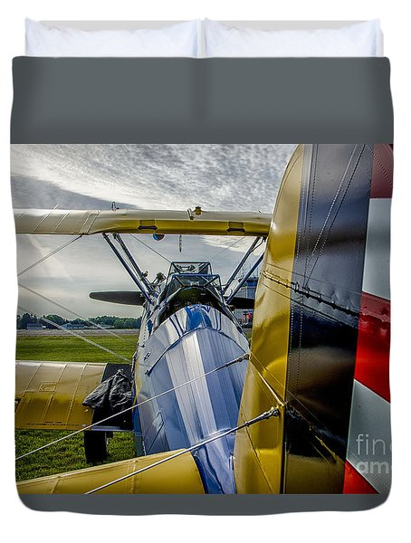 Vintage Bi Plane Duvet Cover by JRP Photography