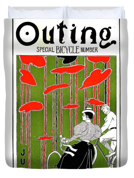 Duvet Cover featuring the photograph Vintage Bicycle Issue 1896 by Padre Art