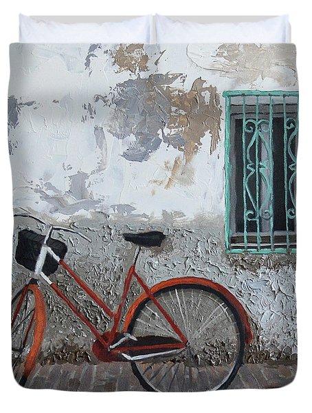 Vintage Series #3 Bike Duvet Cover