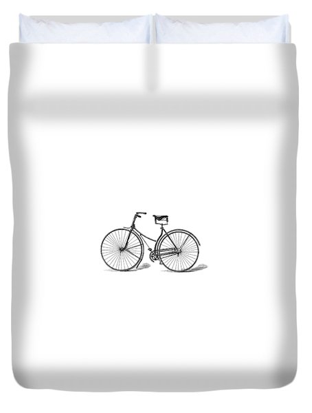 Duvet Cover featuring the digital art Vintage Bike by ReInVintaged