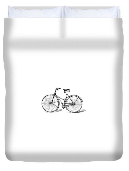 Vintage Bike Duvet Cover