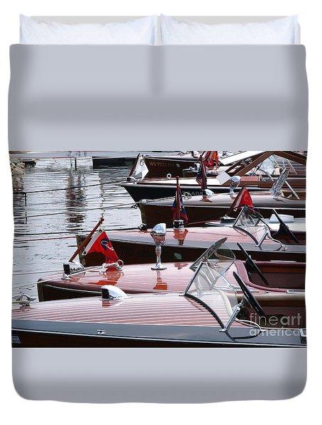 Vintage Boats Duvet Cover