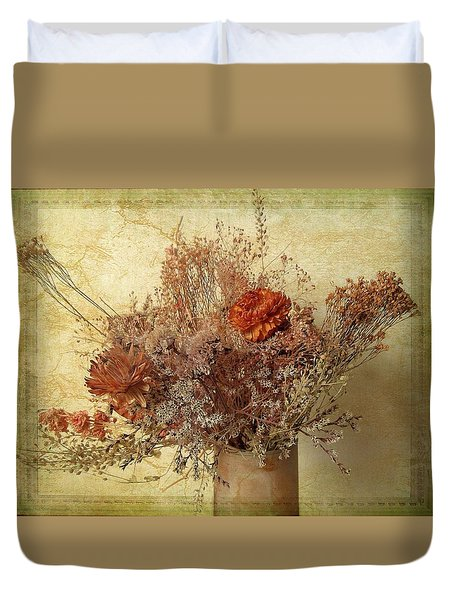 Duvet Cover featuring the photograph Vintage Bouquet by Jessica Jenney