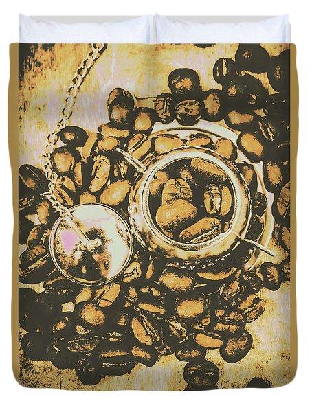 Vintage Cafe Artwork Duvet Cover