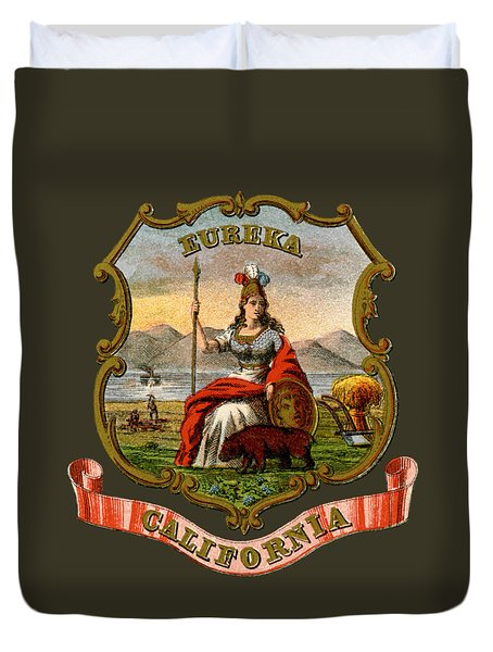 Vintage California Coat Of Arms Duvet Cover