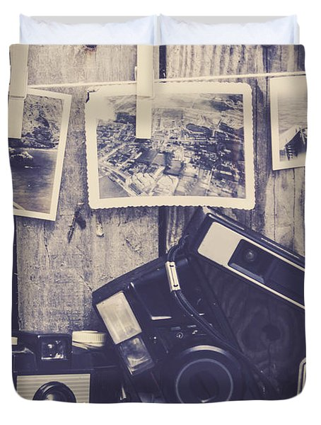 Vintage Camera Gallery Duvet Cover