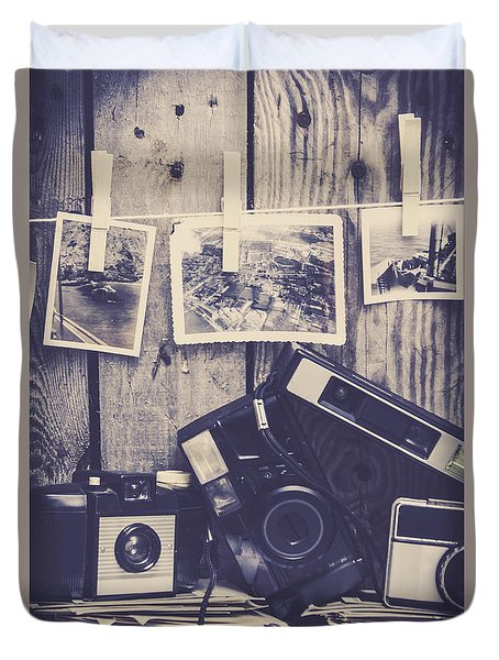 Vintage Camera Gallery Duvet Cover