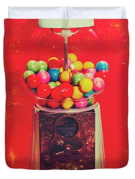 Vintage Candy Store Gum Ball Machine Duvet Cover