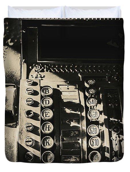 Vintage Cash Register Duvet Cover