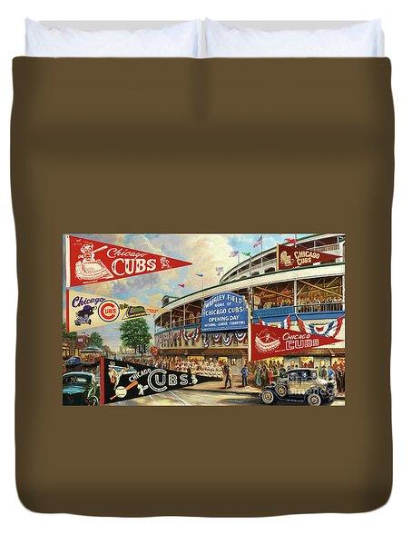 Vintage Chicago Cubs Duvet Cover