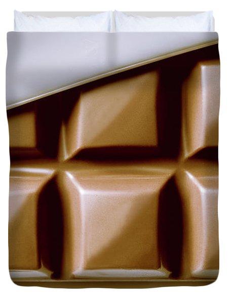 Vintage Chocolate Block Macro Duvet Cover