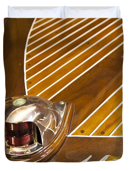 Vintage Century Boat Bow Light Duvet Cover
