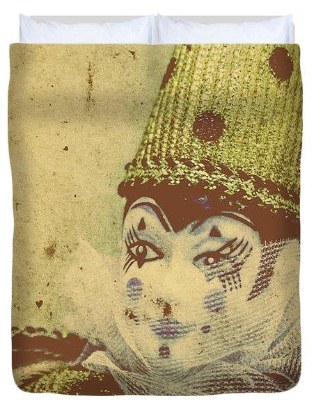 Vintage Circus Postcard Duvet Cover