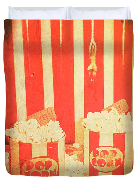 Vintage Classical Cinema Interval Concept Duvet Cover