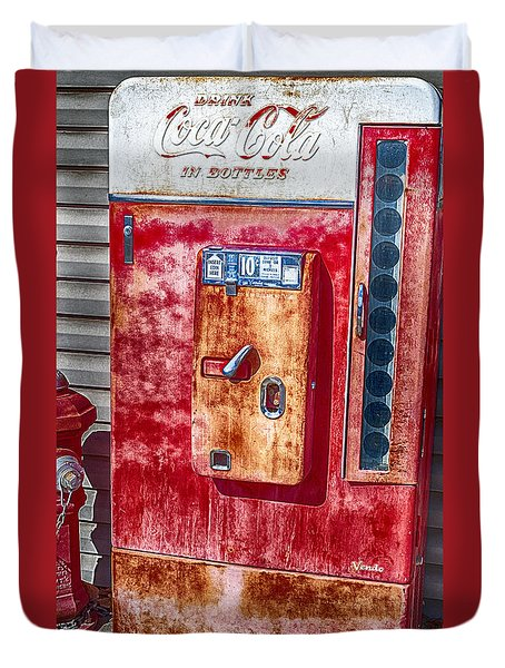 Vintage Coca-cola Machine 10 Cents Duvet Cover