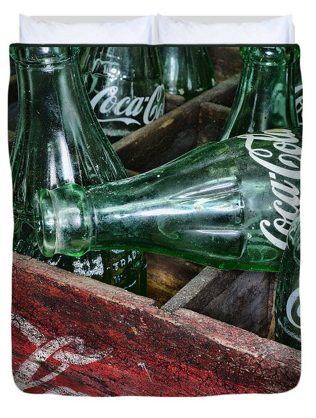 Vintage Coke Square Format Duvet Cover