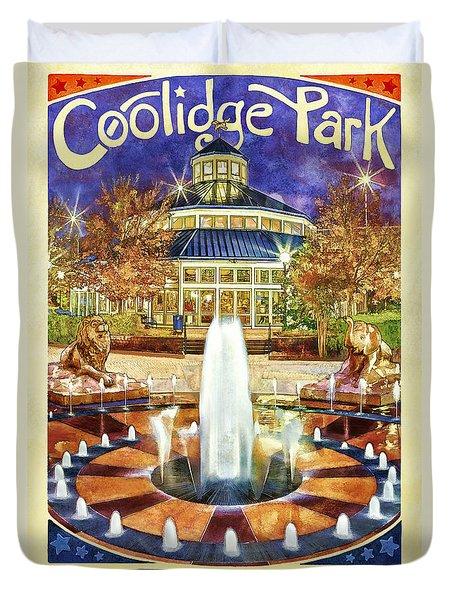 Vintage Coolidge Park Poster Duvet Cover