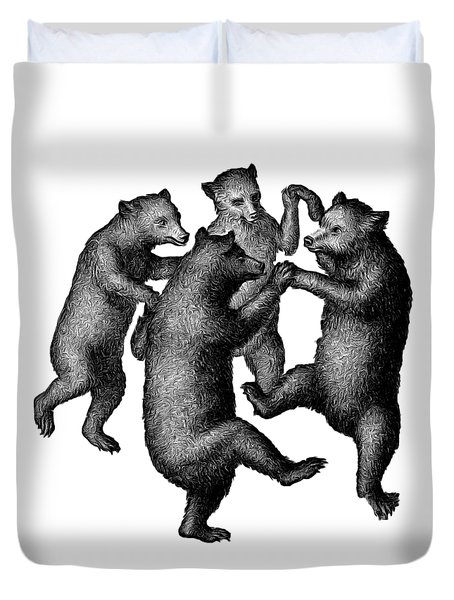 Vintage Dancing Bears Drawing By Edward Fielding