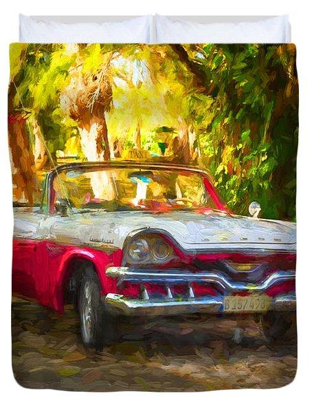 Vintage Dodge Custom Royal 1957 Duvet Cover