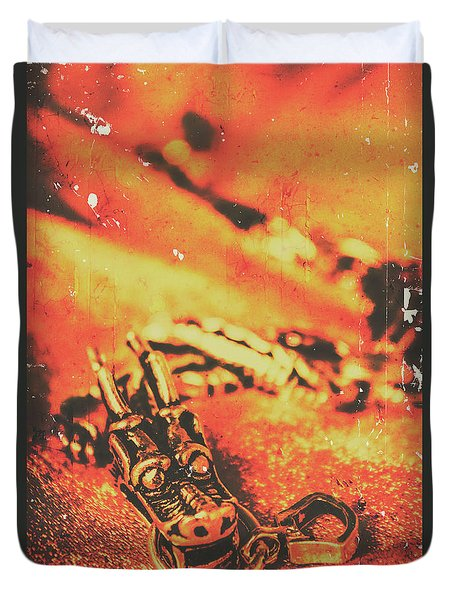 Vintage Dragon Charm Duvet Cover