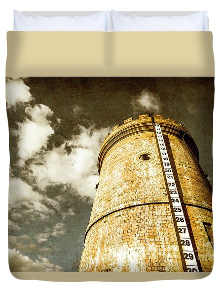 Vintage Evendale Water Tower Duvet Cover