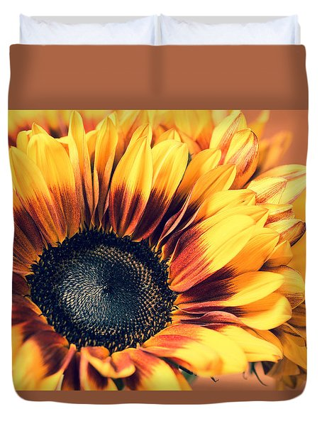 Duvet Cover featuring the photograph Vintage Fall by Julie Andel