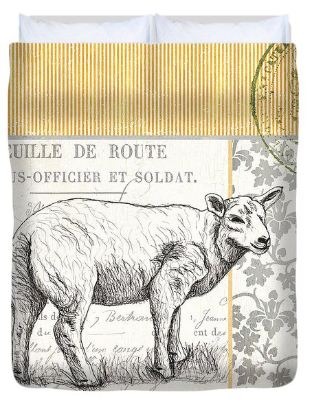 Vintage Farm 3 Duvet Cover by Debbie DeWitt