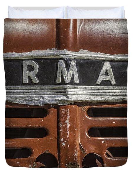 Vintage Farmall Tractor Duvet Cover