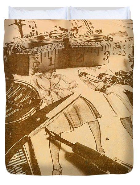 Vintage Fashion Design Duvet Cover