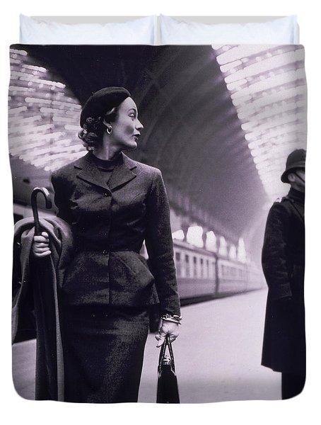 Vintage Fashion Elegant Lady Duvet Cover