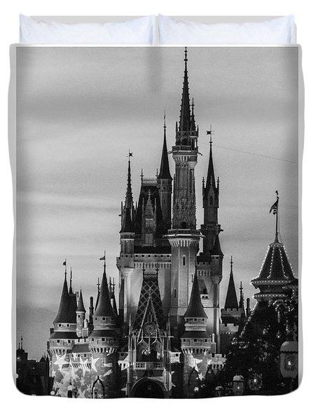 Vintage Film Castle Duvet Cover