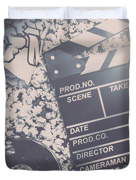 Vintage Film Production Duvet Cover