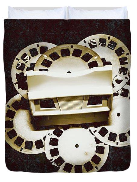 Vintage Film Toy Duvet Cover