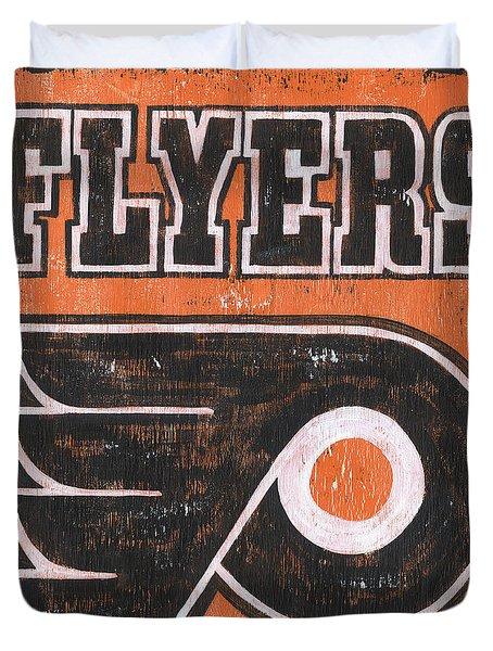 Vintage Flyers Sign Duvet Cover