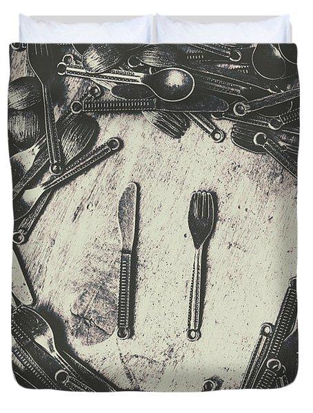 Vintage Food Service Duvet Cover