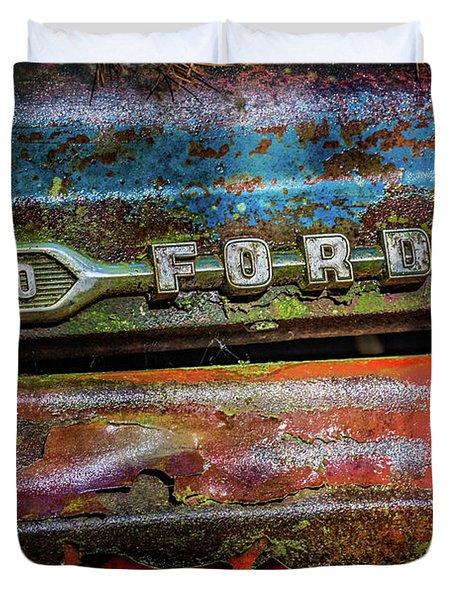Vintage Ford F100 Duvet Cover
