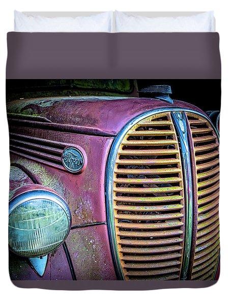 Vintage Ford Firetruck Duvet Cover