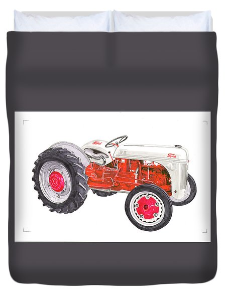 Vintage Ford Tractor 1941 Duvet Cover by Jack Pumphrey