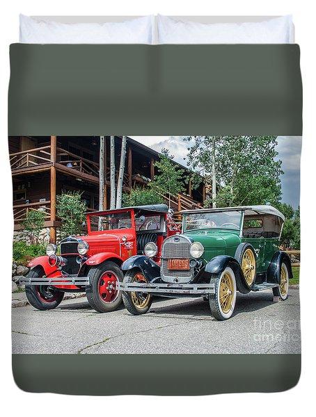Vintage Ford's Duvet Cover