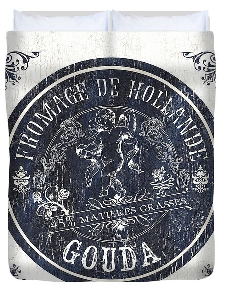 Vintage French Cheese Label 1 Duvet Cover