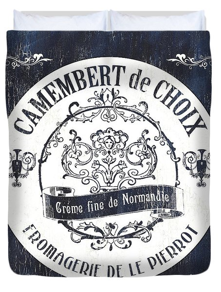 Vintage French Cheese Label 3 Duvet Cover