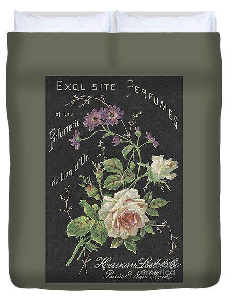 Vintage French Perfume  Duvet Cover