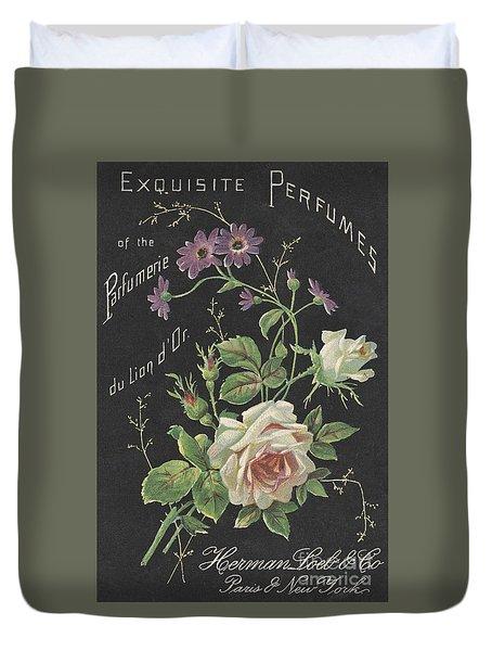 Vintage French Perfume  Duvet Cover