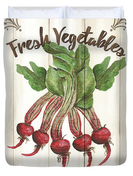 Vintage Fresh Vegetables 1 Duvet Cover