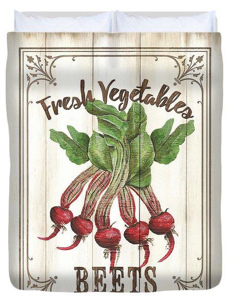 Duvet Cover featuring the painting Vintage Fresh Vegetables 1 by Debbie DeWitt