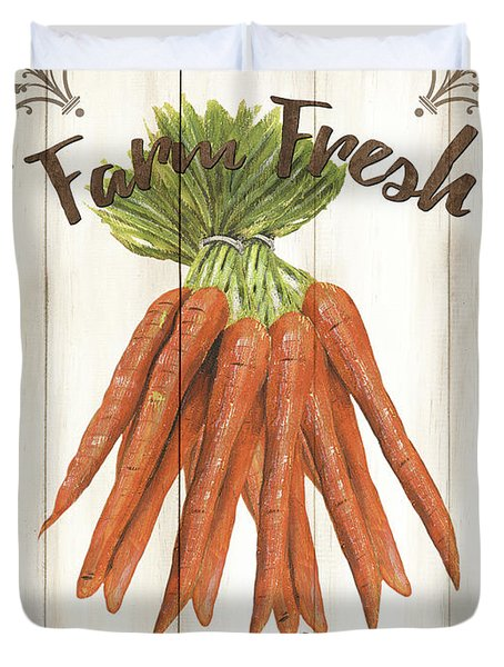 Vintage Fresh Vegetables 3 Duvet Cover
