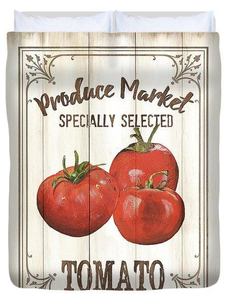 Duvet Cover featuring the painting Vintage Fresh Vegetables 4 by Debbie DeWitt