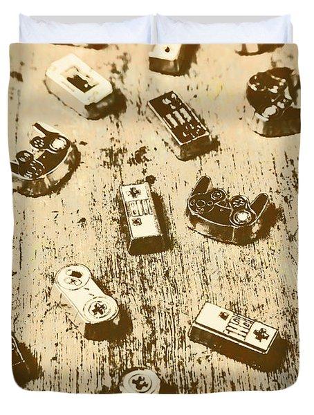Vintage Gamers Duvet Cover