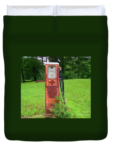 Vintage Gas Pump Duvet Cover